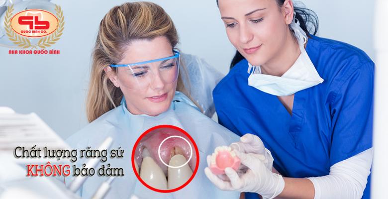Một số ảnh hưởng đến răng thật khi chất lượng răng sứ không đảm bảo
