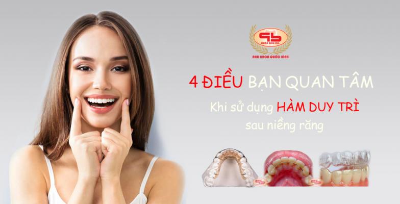 4 điều các bạn hay quan tâm khi đeo hàm duy trì sau niềng răng